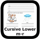 cursive handwriting worksheets m-r