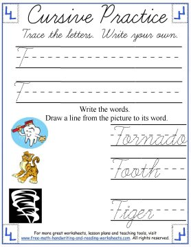 cursive handwriting worksheets 2