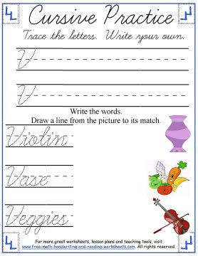 cursive handwriting worksheets 4