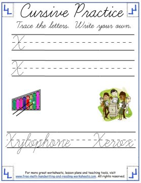 cursive handwriting worksheets 6