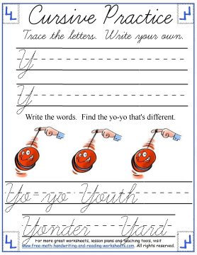 cursive handwriting worksheets 7