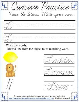cursive letters 6