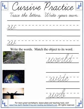cursive practice 5