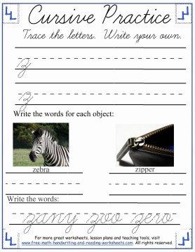 cursive practice 8