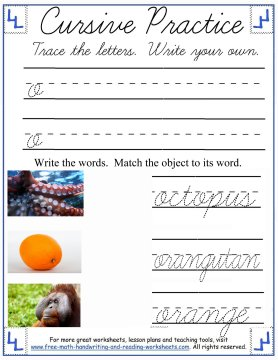 cursive worksheets 3