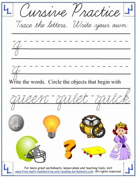 cursive worksheets 5