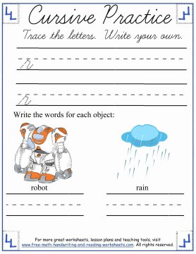 cursive worksheets 6