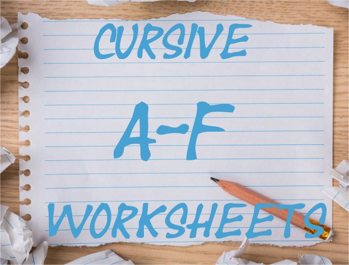 Cursive Writing Worksheets:Uppercase Letters A-F