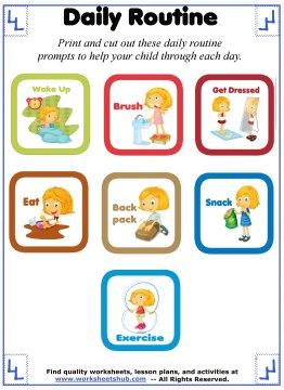 daily routine for kids 1