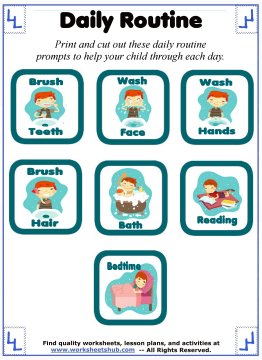 daily routine for kids 2