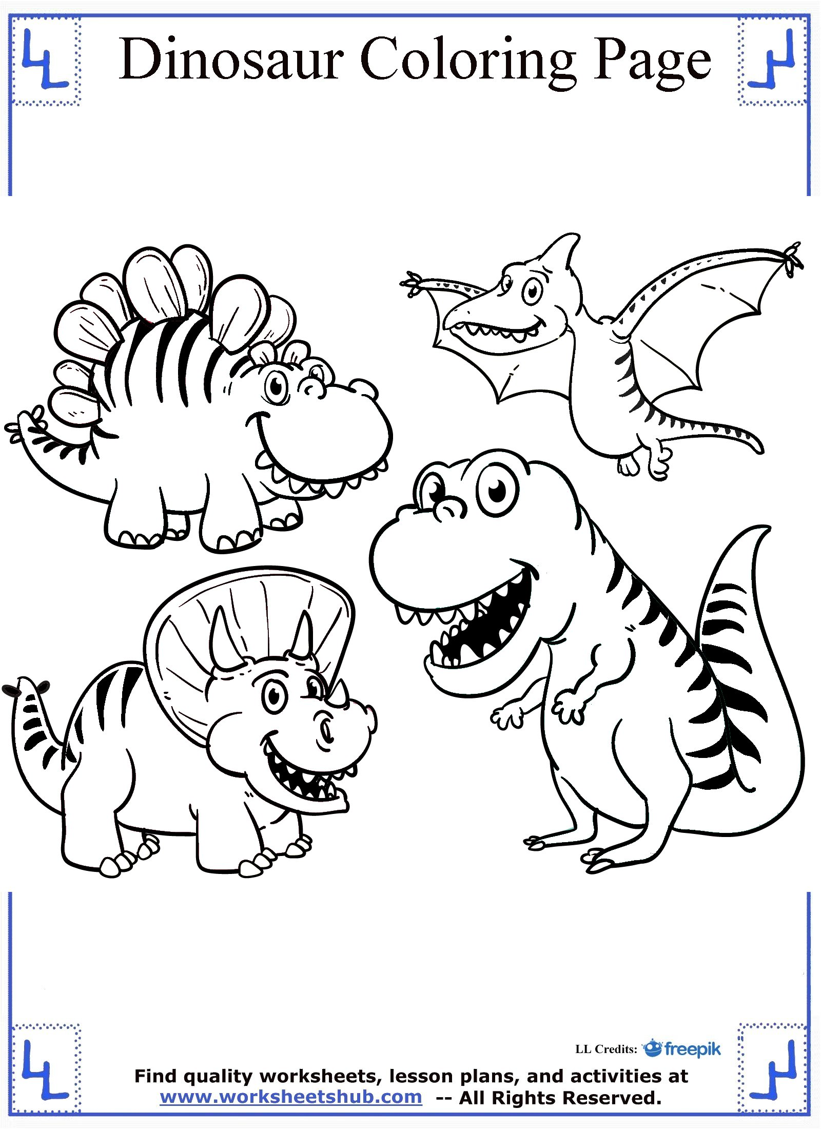 Dinosaur coloring pages Coloring book dinosaurs