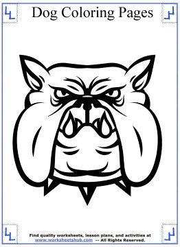 dog coloring pages 14