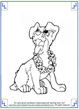 dog coloring pages 7