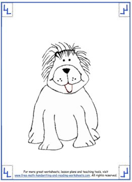 dog coloring pages 8