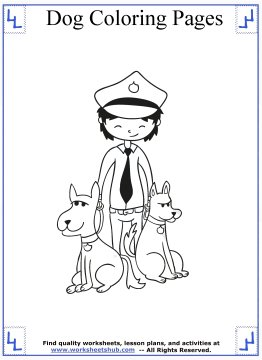 dog coloring pages 9