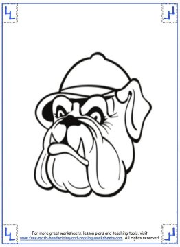 dog coloring pages 4
