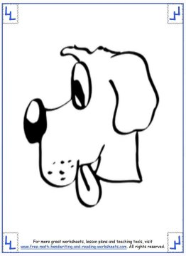 dog coloring pages 1