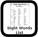 dolch sight words list