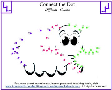 dot to dot worksheets 1