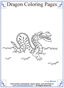dragon coloring pages 10