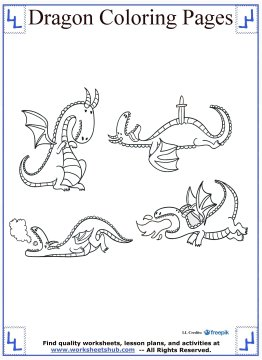 dragon coloring pages 11