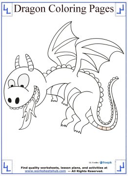 dragon coloring pages 12
