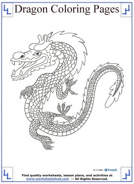 dragon coloring pages 13