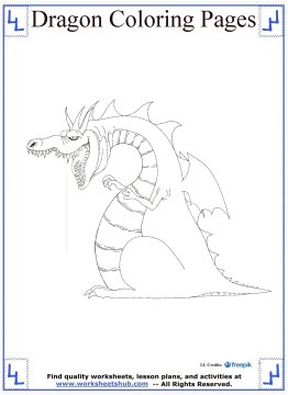dragon coloring pages 14