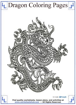 dragon coloring pages 15