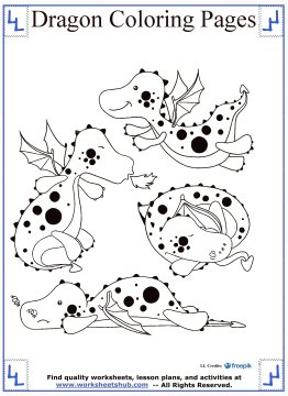 dragon coloring pages 16