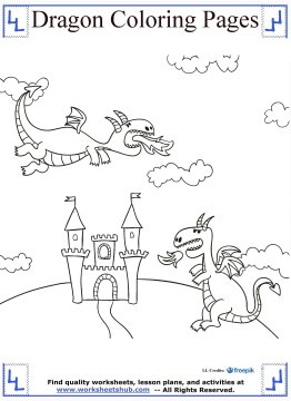 dragon coloring pages 17