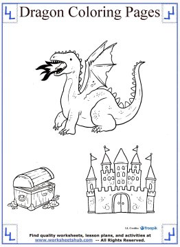 dragon coloring pages 18
