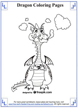 dragon coloring pages 2
