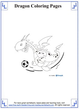 dragon coloring pages 6