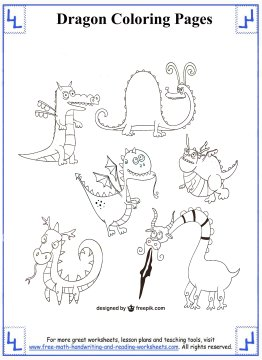 dragon coloring pages 9