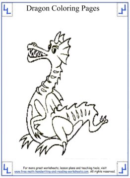 Dragon Coloring Pages Print amp Color