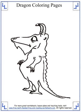 dragon coloring pages 8