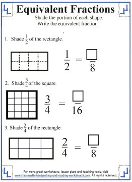 math worksheet : equivalent fraction worksheets : Equivalent Fractions Worksheet With Pictures