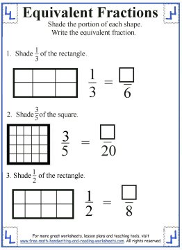 equivalent fraction worksheets 3