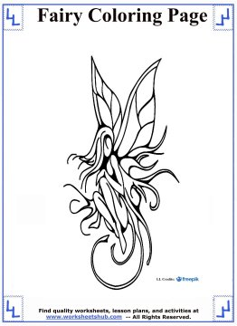 fairy coloring pages 1