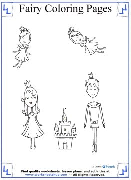 fairy coloring pages 11