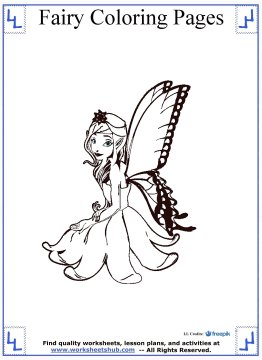 fairy coloring pages 12