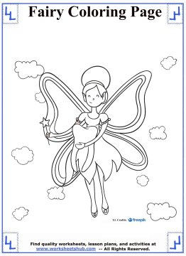 fairy coloring pages 2