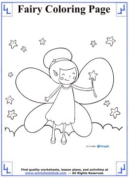 fairy coloring pages 3