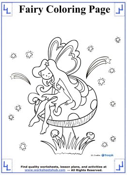 fairy coloring pages 6