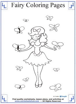 fairy coloring pages 7