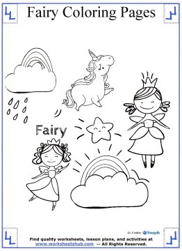 fairy coloring pages 8