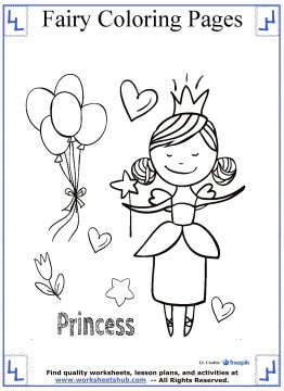 fairy coloring pages 9