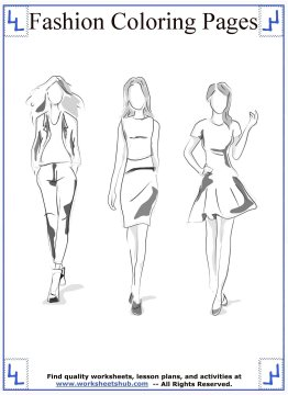 fashion coloring pages 4