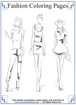 fashion coloring pages 5 - Fashion Coloring Pages
